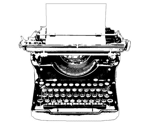 Image result for typewriter tumblr transparent